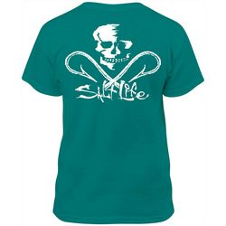 Salt Life Big Boys Skull and Hooks Logo T-Shirt