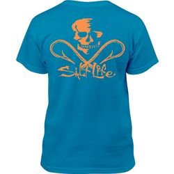 Salt Life Big Boys Skull & Hooks T-Shirt