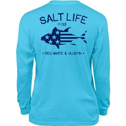 Salt Life Big Boys Red, White & Bluefin Long Sleeve T-Shirt
