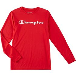 Champion Big Boys  Logo Print Long Sleeve T-Shirt