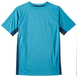 RB3 Active Big Boys Heathered Mesh Panel T-Shirt