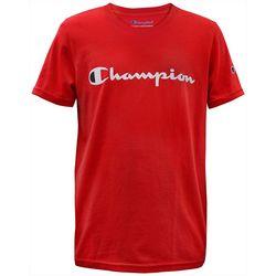 Champion Big Boys Logo Print Short Sleeve T-Shirt
