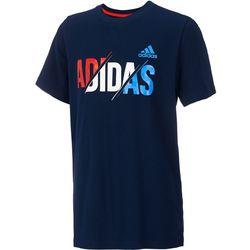 Adidas Big Boys USA Split Logo T-Shirt