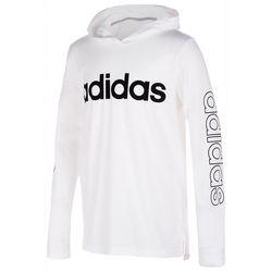 Adidas Big Boys Linear Logo Hoodie