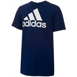 Adidas Big Boys Solid Large Logo T-Shirt