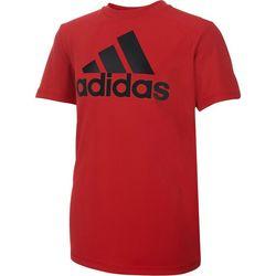 Adidas Big Boys Solid Large Logo T-Shirt