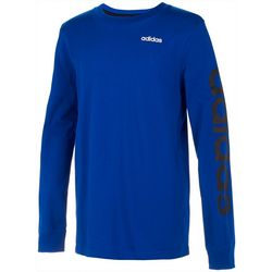 Adidas Big Boys Linear Logo Long Sleeve T-Shirt