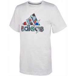 Adidas Big Boys Logo Ball T-Shirt