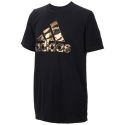 Adidas Big Boys Camouflage Logo T-Shirt