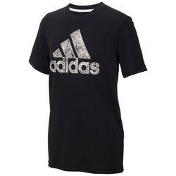 Adidas Big Boys Chalk Logo T-Shirt