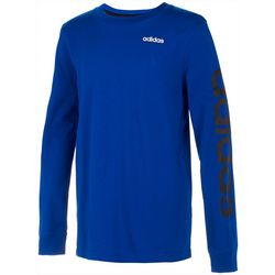 Adidas Little Boys Linear Logo Long Sleeve T-Shirt