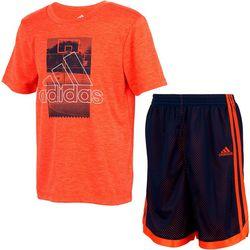 Adidas Big Boys 2-pc. Mesh Shorts Set