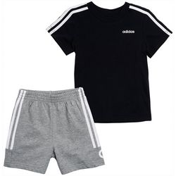 Adidas Little Boys 2-pc. Cotton Logo T-shirt & Shorts Set