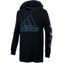 Adidas Little Boys Long Sleeve Graphic Ball Hoodie