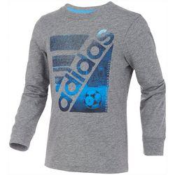 Adidas Little Boys Long Sleeve Soccer Court T-Shirt