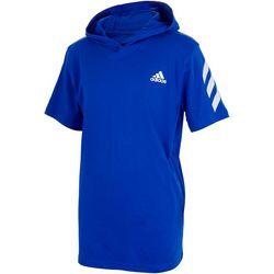 Adidas Big Boys Short Sleeve Hodded Tee