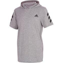 Adidas Big Boys Heather Short Sleeve Hodded Tee