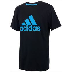 Adidas Big Boys Short Sleeve Solid Boss T-Shirt