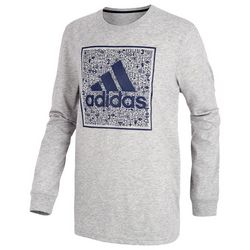 Adidas Big Boys Doodle Graphic Long Sleeve T-Shirt