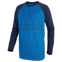 Adidas Big Boys Performance Long Sleeve Raglan T-Shirt