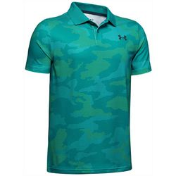 Under Armour Big Boys UA Performance Camo Polo Shirt