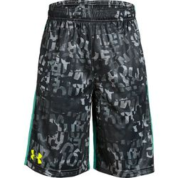 Under Armour Big Boys Stunt Letter Print Shorts