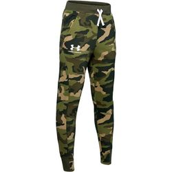 Under Armour Big Boys UA Rival Camo Print Jogger Pants