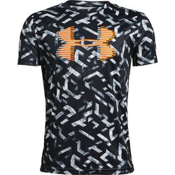 Under Armour Big Boys Tech Grid Lock Logo T-Shirt