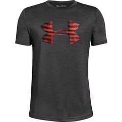 Under Armour Big Boys Heather UA Tech Logo T-Shirt