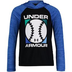 Under Armour Little Boys Long Sleeve Baseball Graphic Hoodie