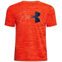 Under Armour Little Boys UA Half Icon Twist Logo T-Shirt