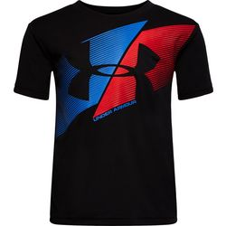 Under Armour Little Boys UA Slashed Logo T-Shirt