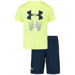 Under Armour Little Boys 2-pc. Rising Logo Shorts Set