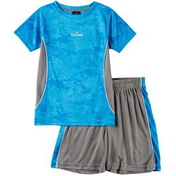 Spalding Little Boys 2-pc. Athletic Camouflage Shorts Set