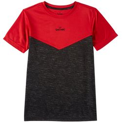 Spalding Big Boys Colorblock Short Sleeve T-Shirt