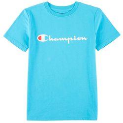 Champion Big Boys Logo Short Sleeve T-Shirt