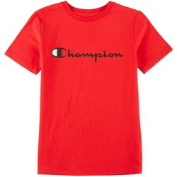 Champion Big Boys Short Sleeve Logo T-Shirt