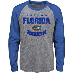 Florida Gators Big Boys Equipped Raglan Long Sleeve T-Shirt
