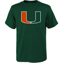 Miami Hurricanes Big Boys Large Logo T-Shirt