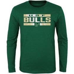 USF Bulls Big Boys Logo Long Sleeve Crew T-Shirt