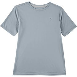Reel Legends Big Boys Reel-Tec Solid Crew Neck T-Shirt