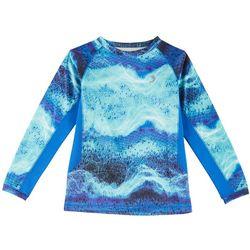 Reel Legends Big Boys Keep It Cool Graphic Wave T-Shirt