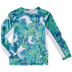 Reel Legends Little Boys Keep It Cool Marlin Splatter Shirt