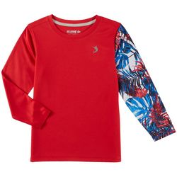 Reel Legends Little Boys Freeline Americana Palms Rashguard