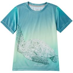 Reel Legends Little Boys Reel-Tec Sea Turtle T-Shirt