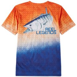 Reel Legends Big Boys Reel-Tec Ombre Graphic T-Shirt