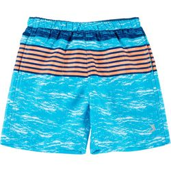 Reel Legends Little Boys Shark Stripe Swim Shorts