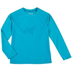Reel Legends Little Boys Solid Shark Rashguard
