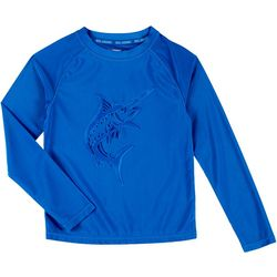 Reel Legends Little Boys Solid Marlin Rashguard