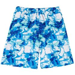 Reel Legends Big Boys Shoreline Camo Swim Shorts